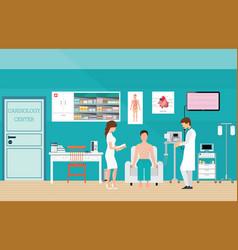 Ecg test or the cardiac test vector