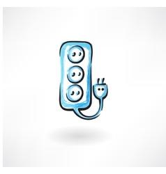 socket grunge icon vector image