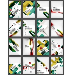 Set of flyer templates business web layouts vector