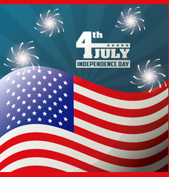 4th july independence day celebration patriotism vector image vector image
