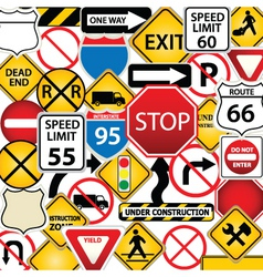 Road signs vector