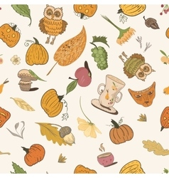 Thanksgiving doodle pattern vector