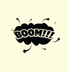 Boom cartoon vector