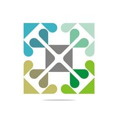 Logo broken heart abstract letter design business vector