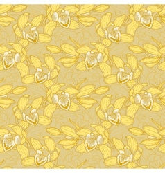 Seamless pattern with orchid vector image