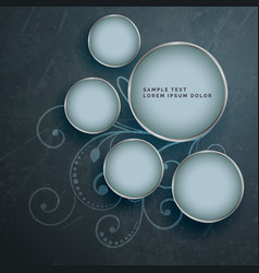 Abstract gloral background with silver frames vector