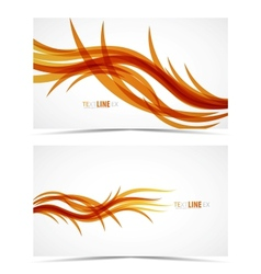 Abstract wave lines vector