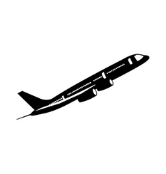 airplane isolated pictogram image vector image vector image