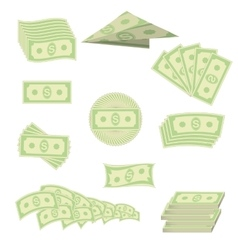 American Banknotes Cash Money US Currency vector image vector image