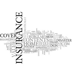 Are you adequately covered text word cloud concept vector