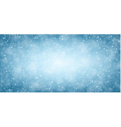 Blue winter banner with snow vector image vector image
