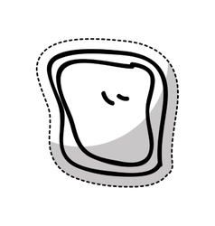 Bread slice isolated icon vector