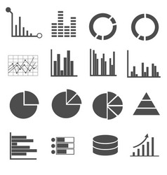 business data icons set vector image vector image