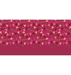 Christmas decorations flags horizontal border vector
