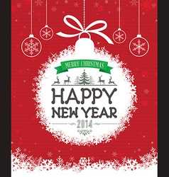 Christmas Message Design vector image vector image