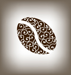 Coffee Vintage Bean Design Element vector image