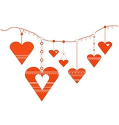 Decorative heart designs vector image vector image
