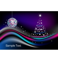 Disco Christmas tree vector image vector image