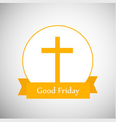 Elements of good friday background vector