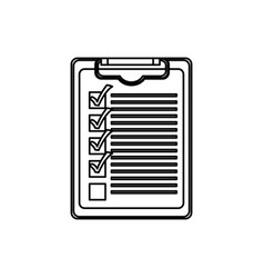 Figure clipboard check the job icon vector