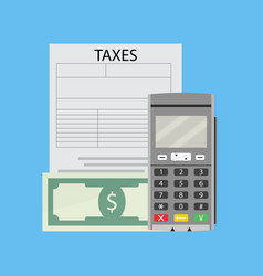 Finance tax form vector