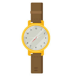 hand watch in flat design vector image vector image