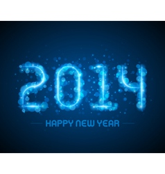 Happy new year - 2014 message vector image vector image