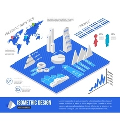 Isometric infographic elements vector image vector image