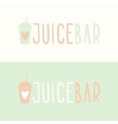 Juice bar logotypes vector