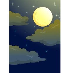 Moonlit Evening vector image vector image
