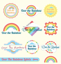 Over The Rainbow vector image vector image