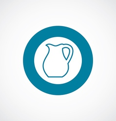 Pitcher icon bold blue circle border vector