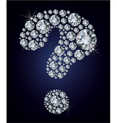 question-mark shape made up a lot diamond vector image
