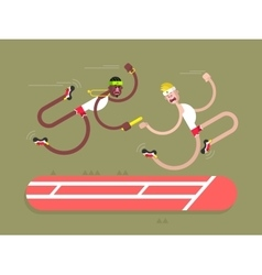 Relay athletics design vector image