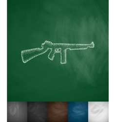 Rifle icon vector