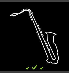 saxophone it is white icon vector image vector image