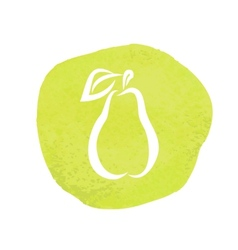 sketch of pear vector image