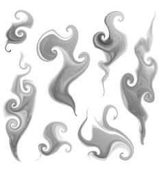 smoke set vector image