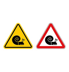 Snail warning sign of attention Slow motion on vector image