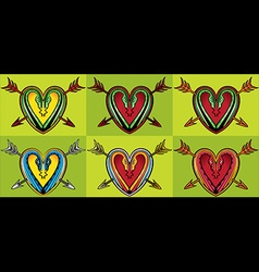snake body silhouette heart shape arrow vector image vector image