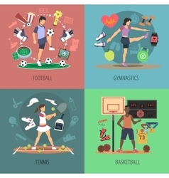 Sport People Design Concept Set vector image