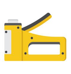 Staple gun flat icon build and repair stapler vector