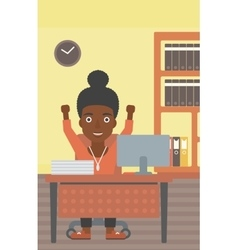 Successful business woman vector