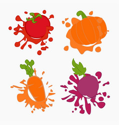 vegetebles juice drops vector image
