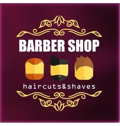 Vintage barber shop signage vector