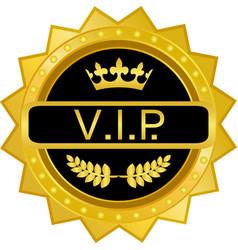 Vip gold badge vector