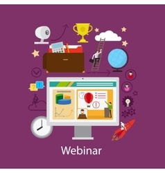 Webinar and online learning concept vector