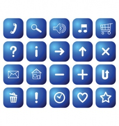 Buttons with symbols for websites vector