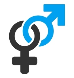 Heterosexual symbol flat icon vector