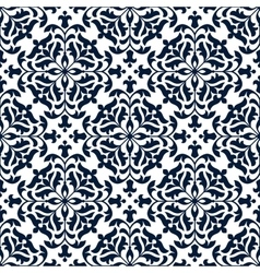 Floral ornate tile or seamless pattern vector